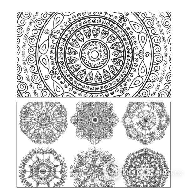 книга раскраска Zen Mandalas